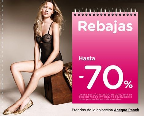 Catálogo rebajas women secret enero 2013