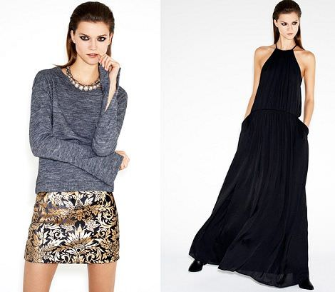 catalogo zara vestidos de fin de ano navidad 2012 2013