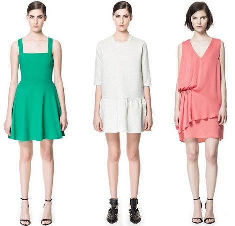 vestidos zara primavera verano 2013
